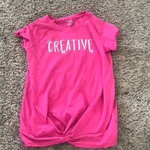 Girls Creative Tie Tee